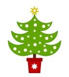 odznaczony ilustracyjny świąteczne drzewko Zdjęcia Stock