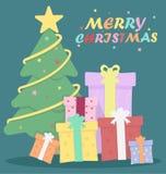 odznaczony ilustracyjny świąteczne drzewko Obrazy Royalty Free