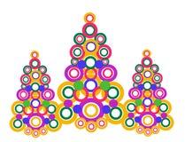 odznaczony ilustracyjny świąteczne drzewko Zdjęcia Royalty Free