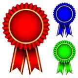 odznak błękitny zieleni czerwień Zdjęcia Royalty Free