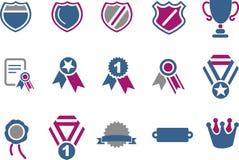 odznak ikony set Fotografia Royalty Free