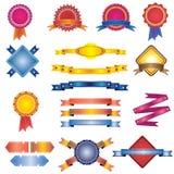 odznak kolorowi etykietek faborki ustawiają rocznika Obraz Royalty Free