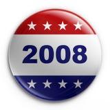 odznaka 2008 wybory Zdjęcie Royalty Free