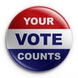 odznaka 2008 wybory Zdjęcia Stock