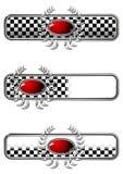 odznaka klejnotu owalu wyścig Obrazy Stock