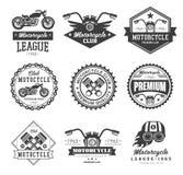 Odznaka motocyklu kolekcje ilustracja wektor