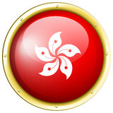 Odznaka projekt dla HongKong flaga Obraz Royalty Free