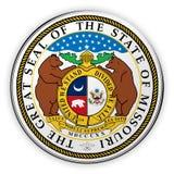 Odznaka stanu usa foki Missouri 3d ilustracja ilustracji
