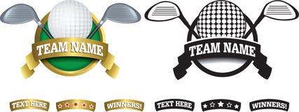 Odznaka, symbol lub ikona na bielu dla golfa, royalty ilustracja