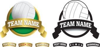 Odznaka, symbol lub ikona na bielu dla siatkówki, royalty ilustracja