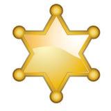odznaka szeryf royalty ilustracja