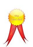 odznaka tata Santa royalty ilustracja