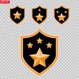 Odznaka, wojsko, honor ikony wektoru wizerunek ilustracja wektor