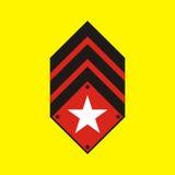 odznaka wojskowy Obraz Stock