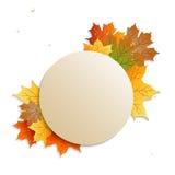 Odznaka z jesień liśćmi Obrazy Stock