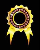 odznaki błyszczący złoty royalty ilustracja