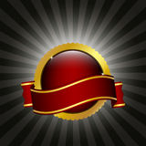 odznaki czerwieni faborek Obrazy Royalty Free