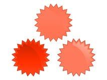odznaki czerwone Obraz Royalty Free