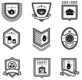 odznaki kuchenne Obraz Stock