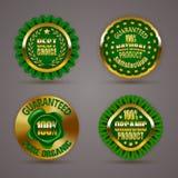 odznaki złote Obraz Stock