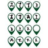 Odznaki z działami Obrazy Stock