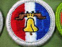 odznaki zasługi liberty bell zwiadowca Obrazy Royalty Free