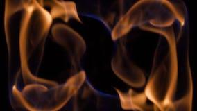 Odzwierciedlający płomienia ruchu tło zbiory wideo
