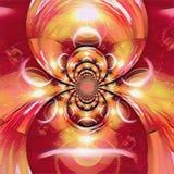 Odzwierciedlający wokoło fractal z obrazkiem zaćmienie ilustracja wektor
