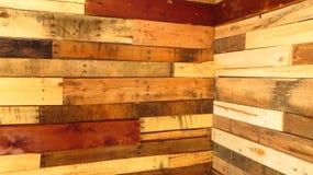 Odzyskująca drewno ściana (kąt) Zdjęcie Royalty Free