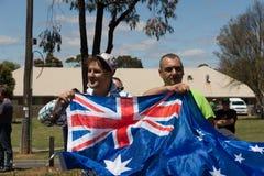 Odzyskuje Australia wiec - Melton Fotografia Royalty Free