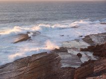 Twilight Ocean breaks  Stock Photo
