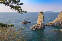 Oedolgae Rock, Jeju Island Royalty Free Stock Photo
