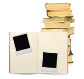 Oefenboek en twee fotoframes #2 stock foto's