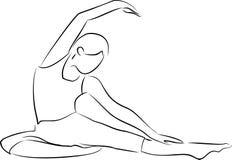 Oefening en yoga vector illustratie