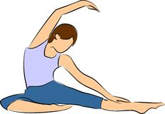 Oefening en yoga royalty-vrije illustratie