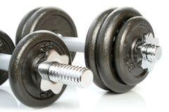 Oefening - gewichten Stock Foto's