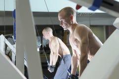 Oefening met gewicht. Royalty-vrije Stock Fotografie