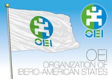 OEI Organization of Ibero-American States flag Stock Photography