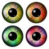 Oeil, élève, iris, conception d'icône de symbole de vecteur illustration libre de droits