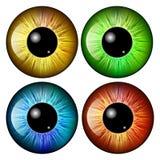Oeil, élève, iris, conception d'icône de symbole de vecteur illustration de vecteur