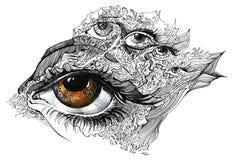 Oeil abstrait Images libres de droits