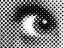 Oeil abstrait de points Image libre de droits