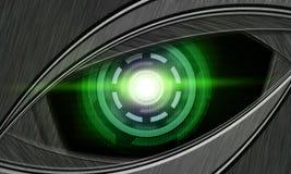 Oeil abstrait de robot Images libres de droits