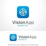 Oeil abstrait Logo Template Design Vector, emblème, concept de construction, symbole créatif, icône de monogramme Photographie stock