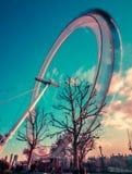 Oeil Angleterre R-U de Londres Images libres de droits