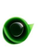 Oeil animal abstrait vert sur le blanc Photo stock