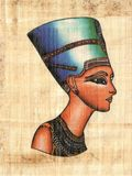 Oeil antique de Horus sur le papier de papyrus Photographie stock libre de droits