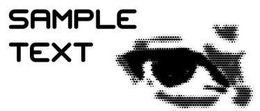 Oeil avec l'espace pour votre texte illustration libre de droits