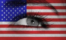 Oeil avec l'indicateur Photos libres de droits