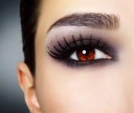 Oeil avec le renivellement noir